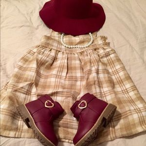 Toddler Girl 3T Old Navy Tan Plaid Dress